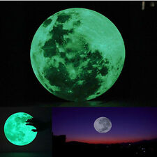 30cm Luminous Moon Glow in the Dark Wall Stickers Moonlight Decor Waterproof NEW