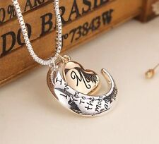 """""""I Love You To The Moon And Back"""" Mom Pendant Necklace Heart Jewelry Mother 6-1"""