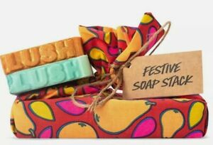 Lush Festive Soap Stack Snowcake & Golden Pear