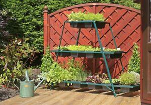 PatioGro Growing Frame Stand Veg Trug FREE IRRIGATION Grow Salads & Vegetables