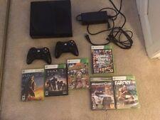 Microsoft Xbox 360 E 250GB Black Console w/6 games - GTA V - 2 controlers