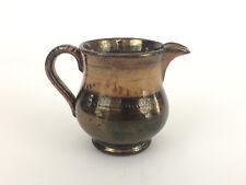 Antique copper lusterware ceramic creamer 1880's
