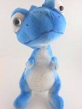 Blue and White Dinosaur Lizard Dragon Plush Zoo Stuffed Animal Toy Spotted