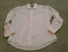 Damante Couture Collection Light Pink Long Sleeve Dress Shirt Size 17-34/35