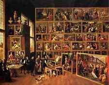 Teniers the Younger David il ARCHDUKE LEOPOLDO Wilhelm S studio stampa in A4