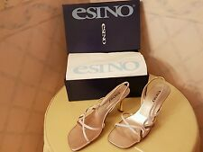 Esino Collection Letizia Multi-Metallic Slingback Shoes Size 40/UK 7 RRP £45.00