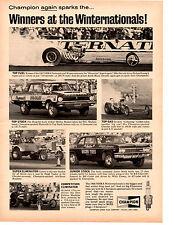 1966 DRAG RACING ~ ROLAND LEONG / SHIRLEY SHAHAN / GORDON COLLETT ~ CHAMPION AD