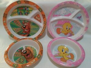 Scooby Too, Tweety Melamine Dishes. B38