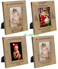 PERSONALISED My FIRST 1st CHRISTMAS Picture PHOTO FRAME Gifts For MUM DAD BABY