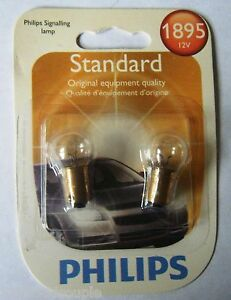 Instrument Panel Light Bulb-Standard -Twin Blister Pack 1895 PHILIPS 1895B2 #105