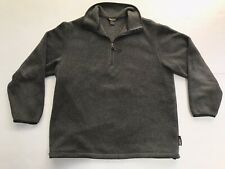 Woolrich John Rich and Bros Men's Gray Polartec 1/4 Zip Up Fleece Size Medium