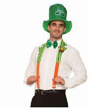 Adult St. Patrick's Leprechaun Irish Costume Collar Suspenders Men Women