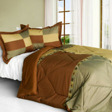 [Rainforest Magic] Quilted Patchwork Down Alternative Comforter Set (Twin Size)