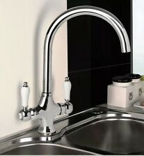 Chrome Swan Neck Ceramic Lever Kitchen Tap New & Boxed Ideal Belfast Sink £39.99