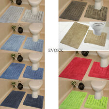 Evokk Bath Mats 100 Cotton Anti-slip Rugs Bathroom 2pc Absorbent/washable Set Yes Foot Print
