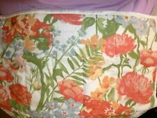"""Cottage Charm Quilted Pillow Sham Floral design in muted multi colors 26"""" x 20"""""""