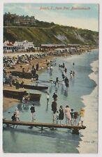 Dorset postcard - Beach, East from Pier, Bournemouth