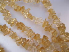 "Vintage Natural Citrine Nugget Strand Necklace 37"" Yellow Jewelry Jewellery"