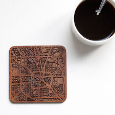 Houston map coaster One piece  wooden coaster Multiple city IDEAL GIFTS