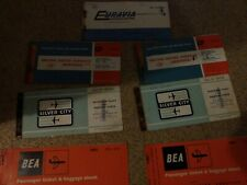 More details for various vintage airline tickets. bea bua euravia silver city.