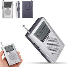 Mini Pocket AM FM Radio Speaker Telescopic Antenna 3.5mm Earphone Headset Jack