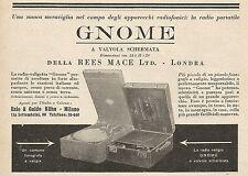 Z0544 Radio valigia a valvola schermata GNOME - Pubblicità del 1930 - Advertis.