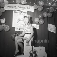 Sexy Costume Metson Travels Admiral Slide Viewer Girl Vtg 1950s Negative Photo