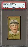 1911 T205 Gold Border Thomas J. Needham Sweet Caporal Chicago Cubs PSA 3 VG