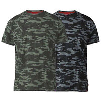 Mens Camo T Shirt D555 Duke Big King Size Military Gaston Short Sleeved Summer