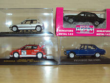 4 X 1:43 SCALE NEW BOXED PEUGEOT CARS 205 GTI 205GTi 206 WRC 504 505 SALOON