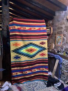 blanket rug Navajo/ zapotec style