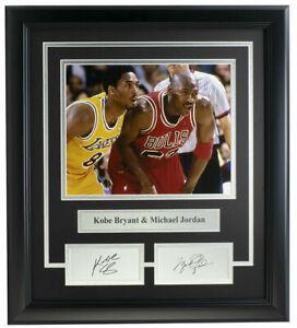 Kobe Bryant+Michael Jordan Framed 8x10 Photo Laser Engraved Signature