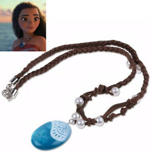 Moana Necklace Costume Cosplay Props Princess Heart of Te Fiti Glowing Music LI