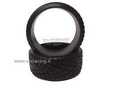 COPPIA DI GOMME DRIFT SCOLPITE 1/10 ON ROAD TIRE-004-A DRIFTING TYRES 2PCS VRX