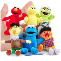6pcs Sesame Street Cookie Monster Elmo Big Bird Bert Ernie Plush Doll Toy Gift