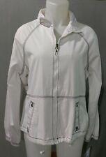 Oleg Cassini Sport - ladies white sport jacket w blue stitching - size L (Nwt)