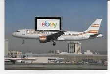CANADA 3000 AIRBUS A320-212 #C-GVXC LANDING AT LOS ANGELES 1997 POSTCARD