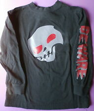 L/S Halloween Boys Shirt Size XS 4/5 Skull Excellent Condition