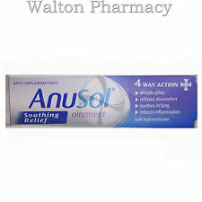 Anusol Soothing Relief Ointment 4 way action & hydrocortisone soothes piles 15g