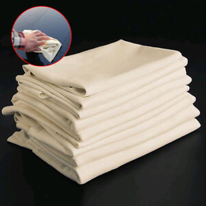 1x Natural Chamois Leather New Car Cleaning Cloth Washing Suede Absorbent Towel