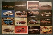 1970's CAR ADVERTISING DEALERSHIP DEALER Chevy Pontiac Ford Postcard LOT of 16