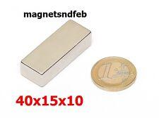 Blockmagnet Neodym-Magnete 40x15x10 Quader