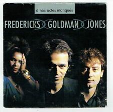 J-J GOLDMAN FREDERICKS JONES 45T NOS ACTES MANQUES - CHANSON D'AMOUR  COLUMBIA