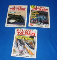 Classic Toy Trains Magazine Lot of (3) All from the Year 1993-1997