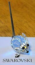 "Swarovski Crystal ""Mini Zoo' Small Mouse Figurine, w/ Silver Rhodium Tail, Logo"