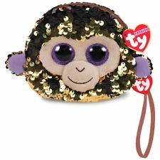 """Ty Fashion Flippables 5"""" Coconut the Monkey Color Changing Sequin Wristlet"""