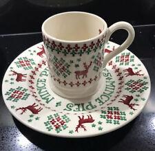 Rare Emma Bridgewater Collectors Club Christmas Jumper 1/2 Pint Mug & Plate Set