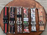 Gucci Apple Watch Band with Leather Sport  for apple watch serious 4 3 2 1