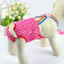 1X Puppy Diaper Underwear Sanitary Pants Suspender Stay On Small Dog Washable#G