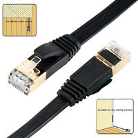 Cat7 High Speed Lan Wire Shielded Flat Internet Network Computer patch cord lot